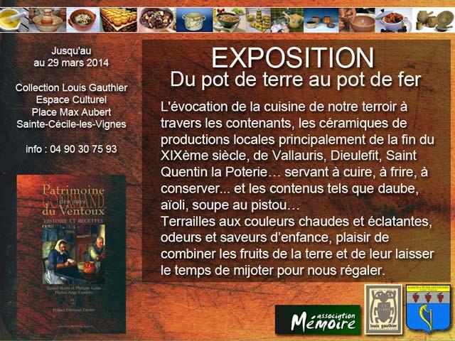 Expo Ste Cécile les Vignes